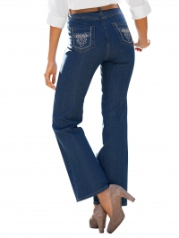 Jeans blue dark stone washed