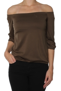 Sisters Point legergroene off-shoulder top North