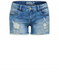 Only Coral Superlow Destroyed Denim Short