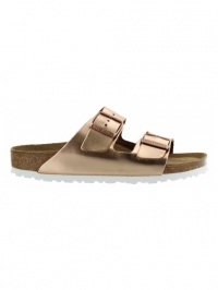 Birkenstock Slipper arizona nl metallic copper wb brons