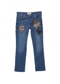 School cropped straight jeans