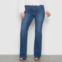 Flare jeans in stretch denim