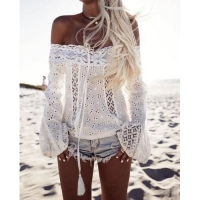 Blouse ibiza dreams - white or black