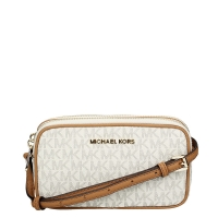 Michael Kors Bedford Double Zipper Crossbody Shoulderbag vanilla
