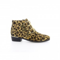 Bronx Leopard Leather Ankle Boot
