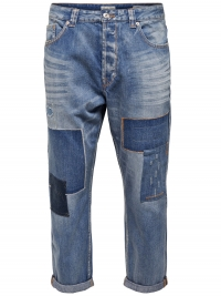 ONLY & SONS Beam Lichtblauwe Anti-Fit Jeans
