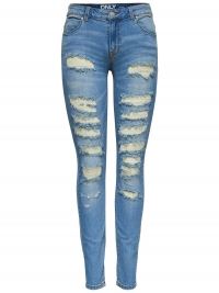 Only Carmen Reg Destroyed Skinny Jeans