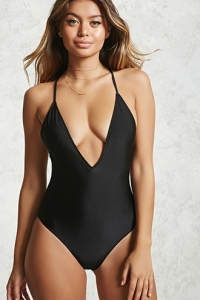 Plunging Scoop Back One Piece