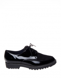 Veterschoen - Patent Faux Leather Black