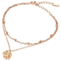 Cilla Jewels enkelband Flower Rose Goud