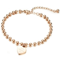 Cilla Jewels enkelband Heart Rose Goud