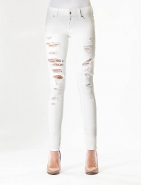 Amy White Destroyed Jeans