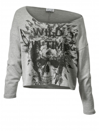 Sweatshirt in oversized model Angel of Style grijs gemêleerd
