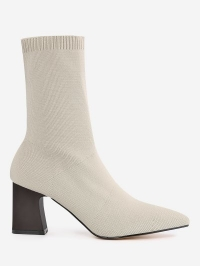 Pointed Toe Fold Over Block Heel Boots