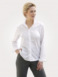 Blouse MONA wit/paars