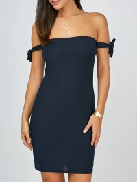 Off The Shoulder Backless Mini Bodycon Club Dress