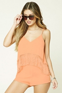 Fringe Cover-Up Romper