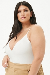 Plus Size V-Neck Cami Bodysuit