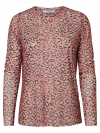 PIECES Lange Mouwen Mesh Blouse Dames Rood