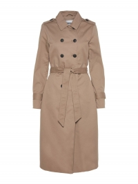 NOISY MAY Lange Trenchcoat Dames Grijs