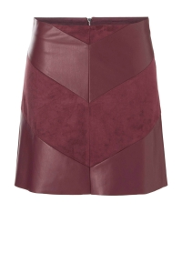 ONLY Leatherlook Rok Dames Rood