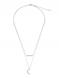 Blond ACCESSORIES, Dames Ketting 'Moon', zilver