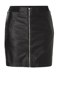 ONLY Leather Look Skirt Dames Zwart