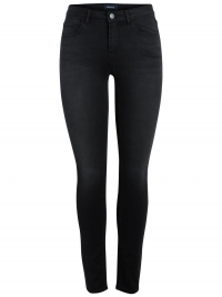 PIECES Mid Waist Skinny Fit Jeans Dames Zwart