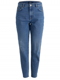 PIECES Hight Waist Mom Fit Jeans Dames Blauw